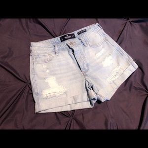 High Rise Hollister Jean Shorts